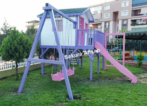 Ahşap Çocuk Oyun Evi-3