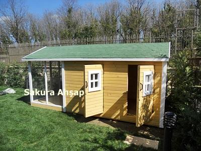 Ahşap Köpek Kulübesi 015-2